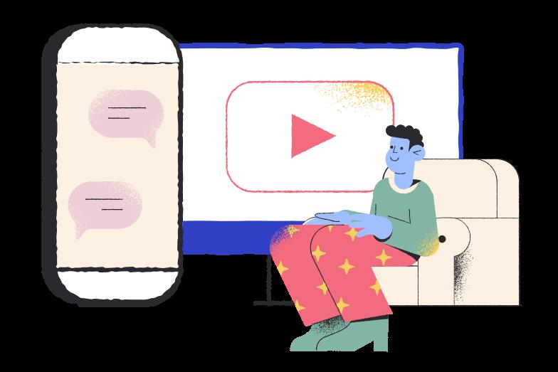 Online life Clipart illustration in PNG, SVG