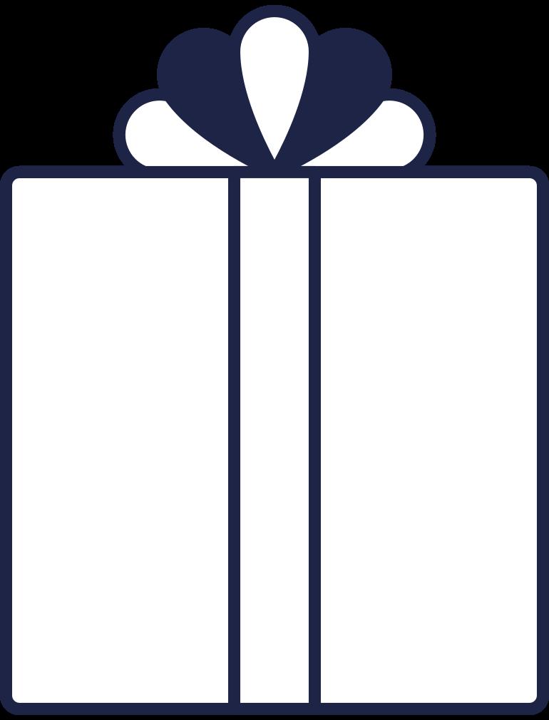 present 2 line Clipart illustration in PNG, SVG