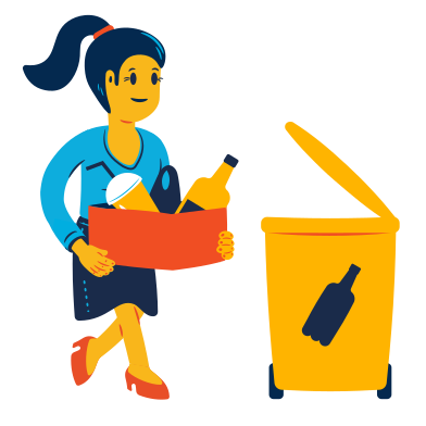 style Plastic waste sorting images in PNG and SVG | Icons8 Illustrations