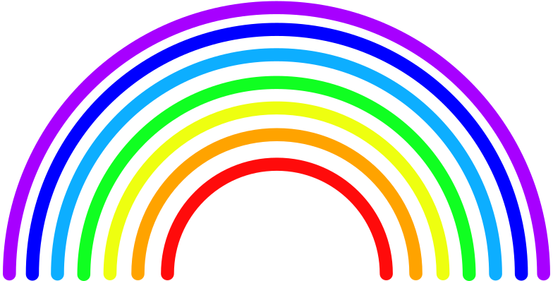 r rainbow Clipart illustration in PNG, SVG