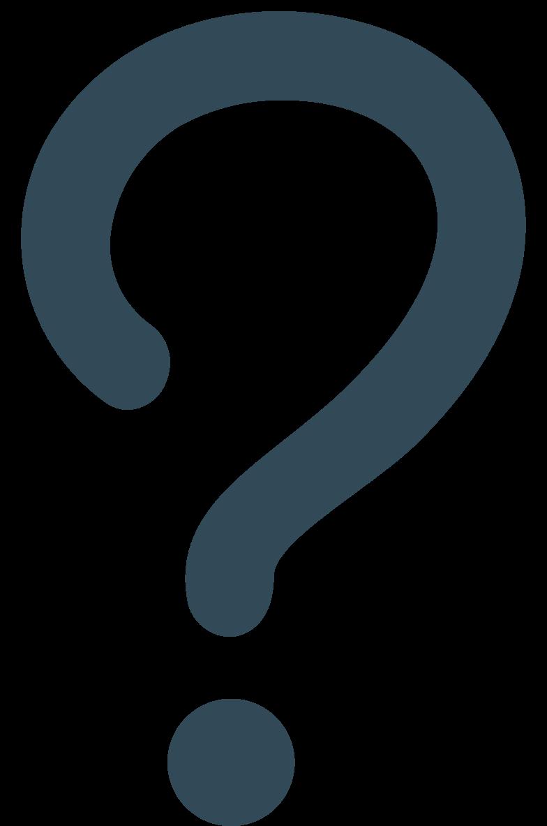 interrogative question dark blue Clipart illustration in PNG, SVG