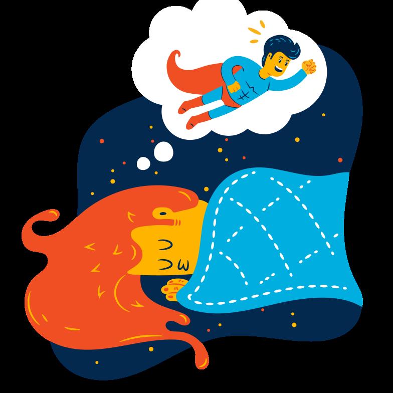 Superhero dream Clipart illustration in PNG, SVG