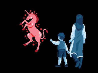 Imágenes de Encuentro con un unicornio estilo  en PNG y SVG | Ilustraciones Icons8