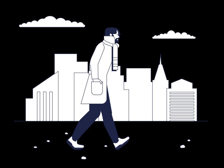 Walking man Clipart illustration in PNG, SVG