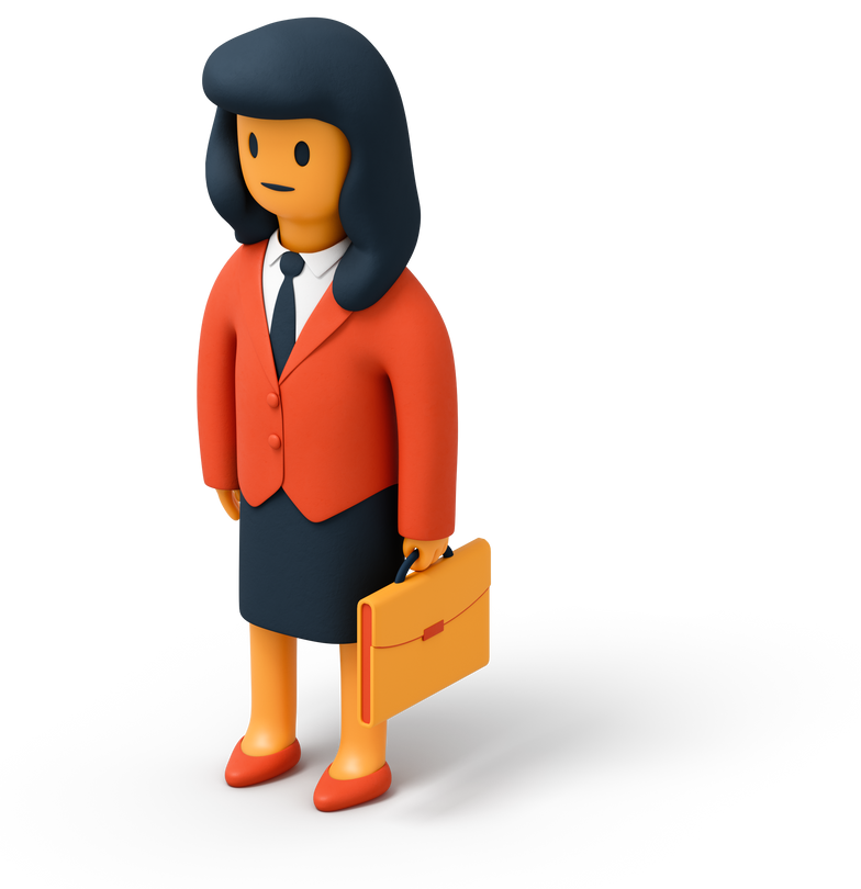 woman with briefcase Clipart illustration in PNG, SVG