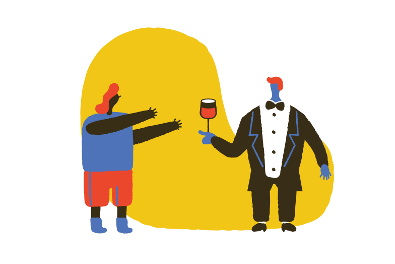 Wine is served Clipart illustration in PNG, SVG