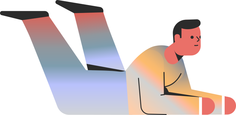 man lying on stomach skin tone Clipart illustration in PNG, SVG