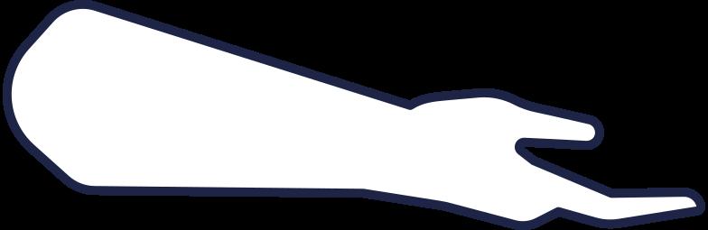 man hand 3 line Clipart illustration in PNG, SVG