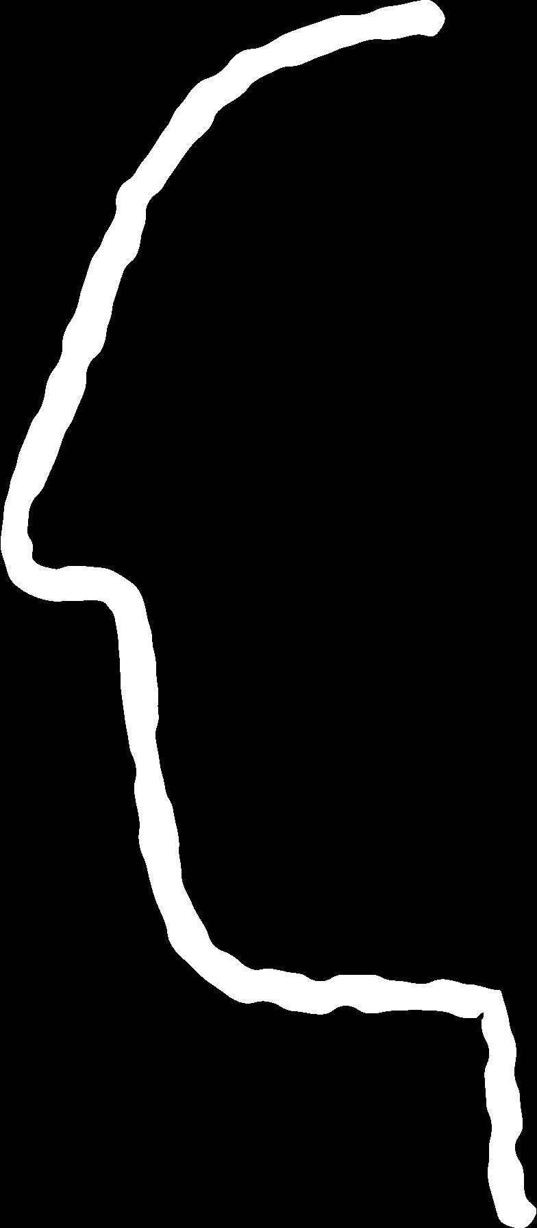 shape man white Clipart illustration in PNG, SVG