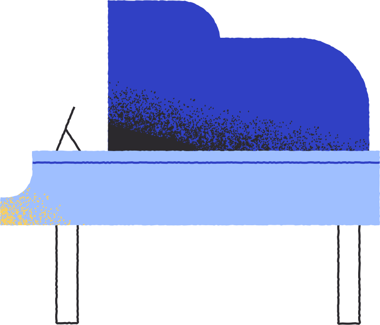 piano side view Clipart illustration in PNG, SVG