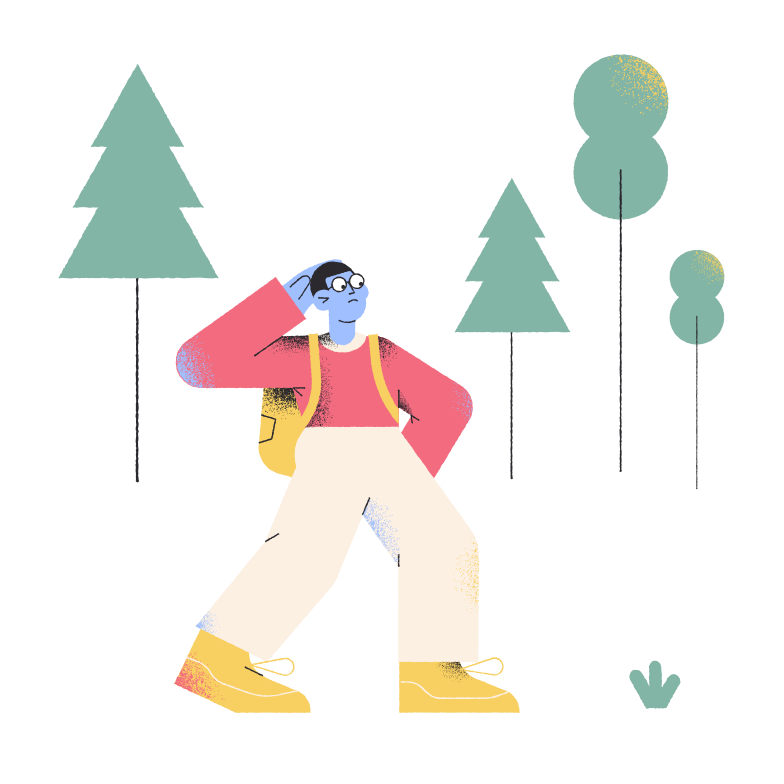style Lost in the forest Vector images in PNG and SVG | Icons8 Illustrations