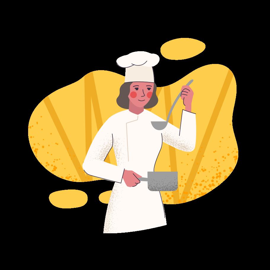 PNGとSVGの  スタイルの 料理人 ベクターイメージ | Icons8 イラスト