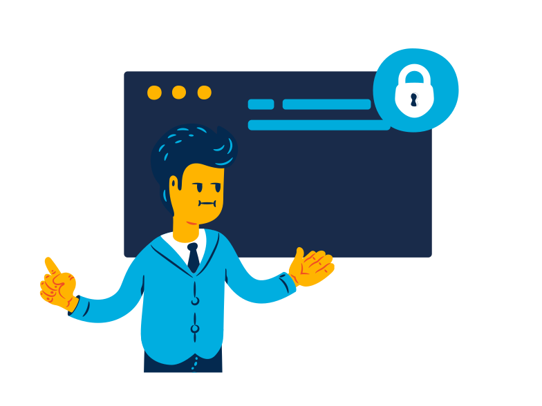 Security Connection Clipart illustration in PNG, SVG