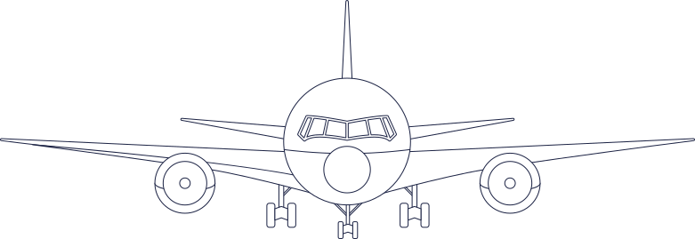 welcome!  plane 1 line Clipart illustration in PNG, SVG