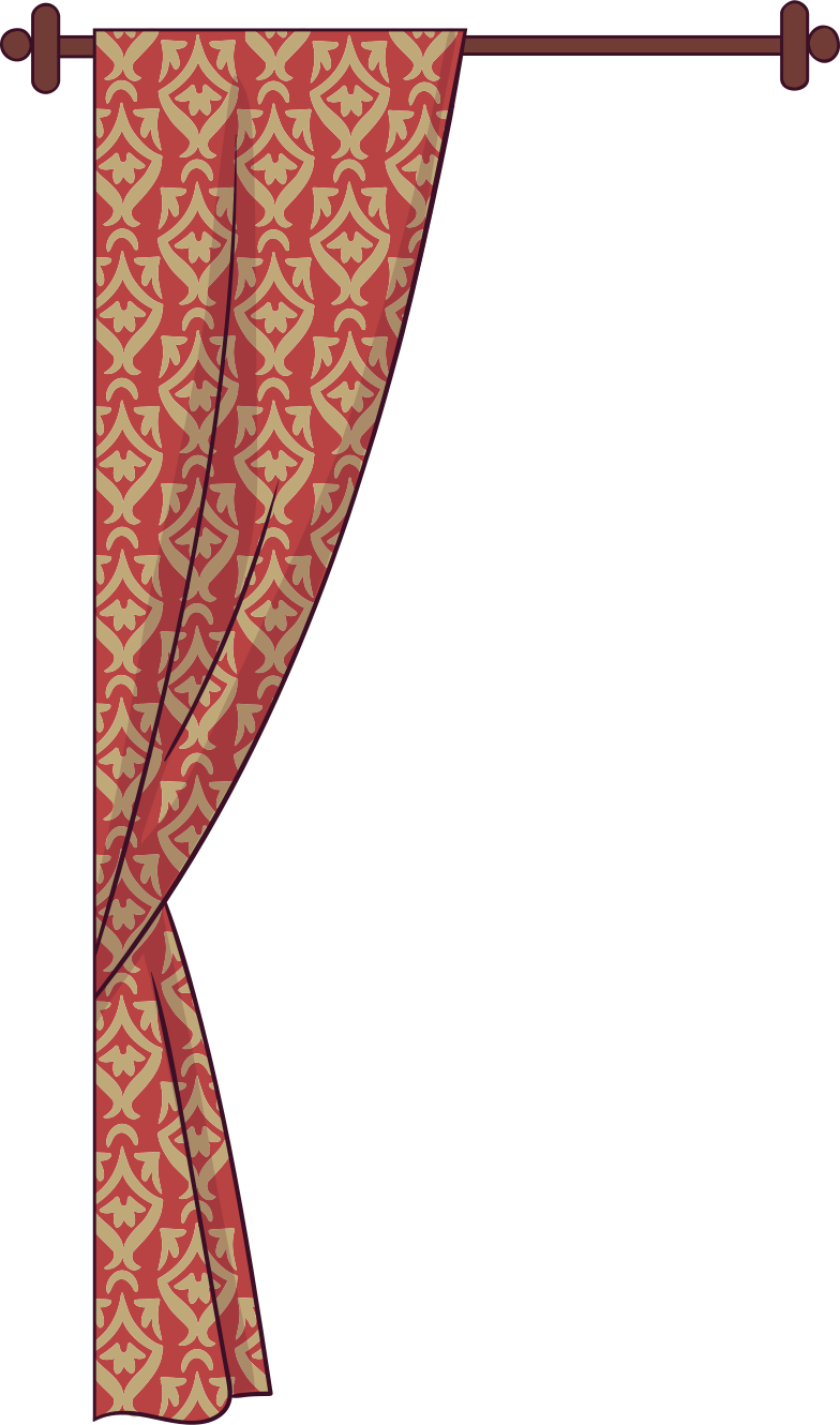 curtain Clipart illustration in PNG, SVG