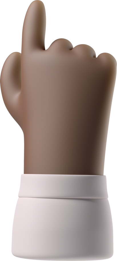 backhand index pointing up Clipart illustration in PNG, SVG