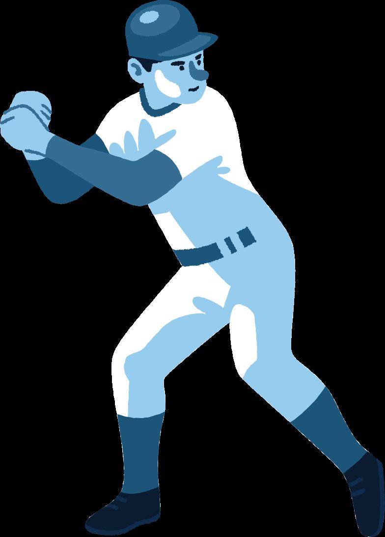 Ilustración de clipart de jugador de baseball en PNG, SVG