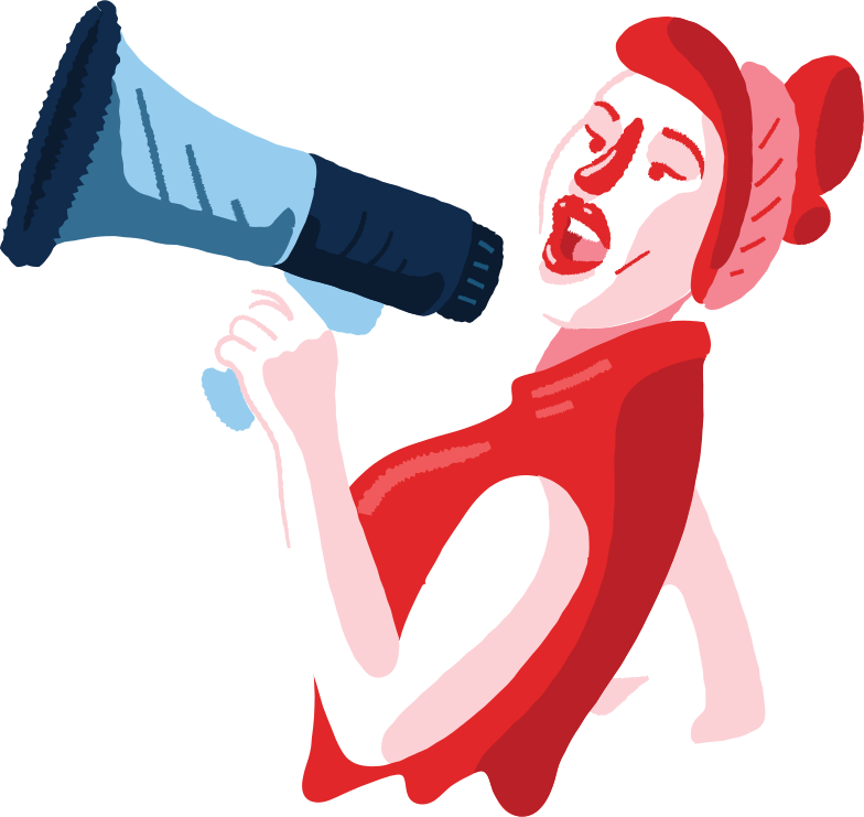 style woman with a loudspeaker Vector images in PNG and SVG | Icons8 Illustrations