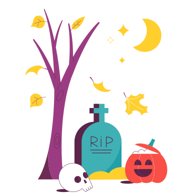 style Halloween time images in PNG and SVG | Icons8 Illustrations