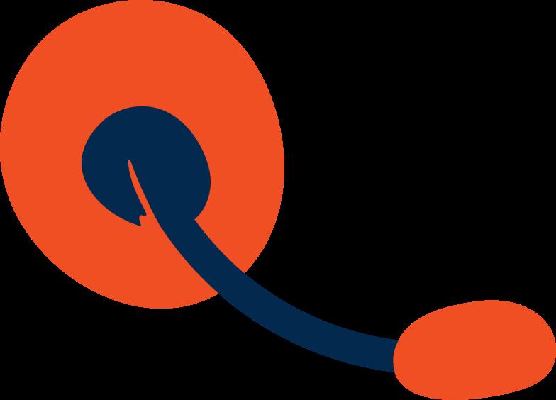 Illustration clipart support headphones aux formats PNG, SVG