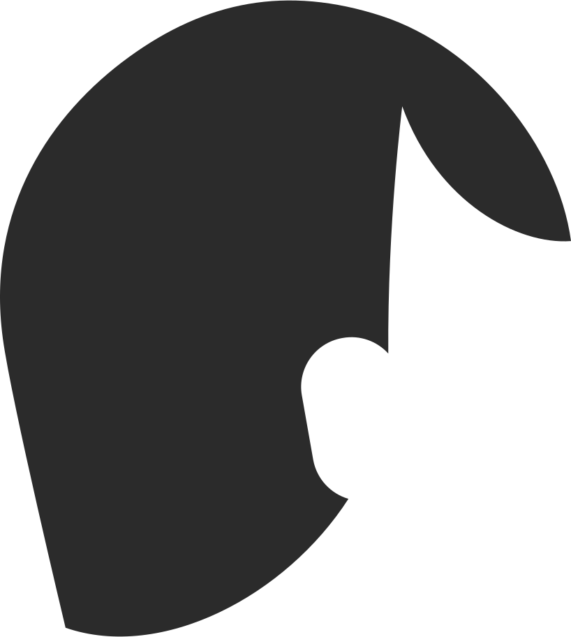 short hair side parting back Clipart illustration in PNG, SVG