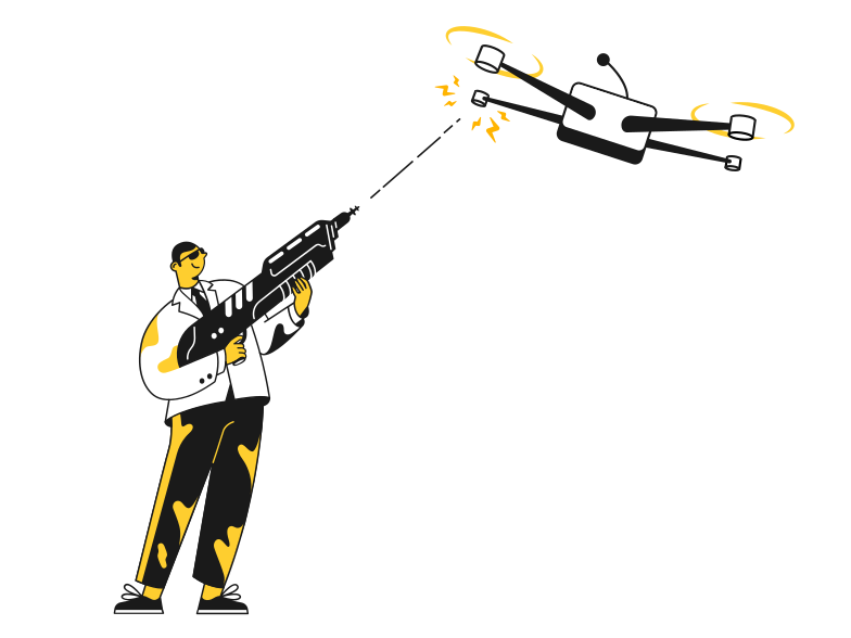 Shot the drone Clipart illustration in PNG, SVG