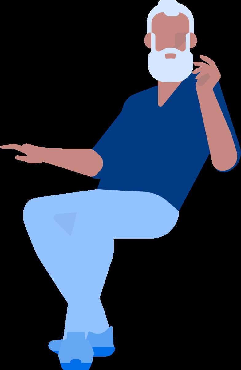 adult man sitting Clipart illustration in PNG, SVG