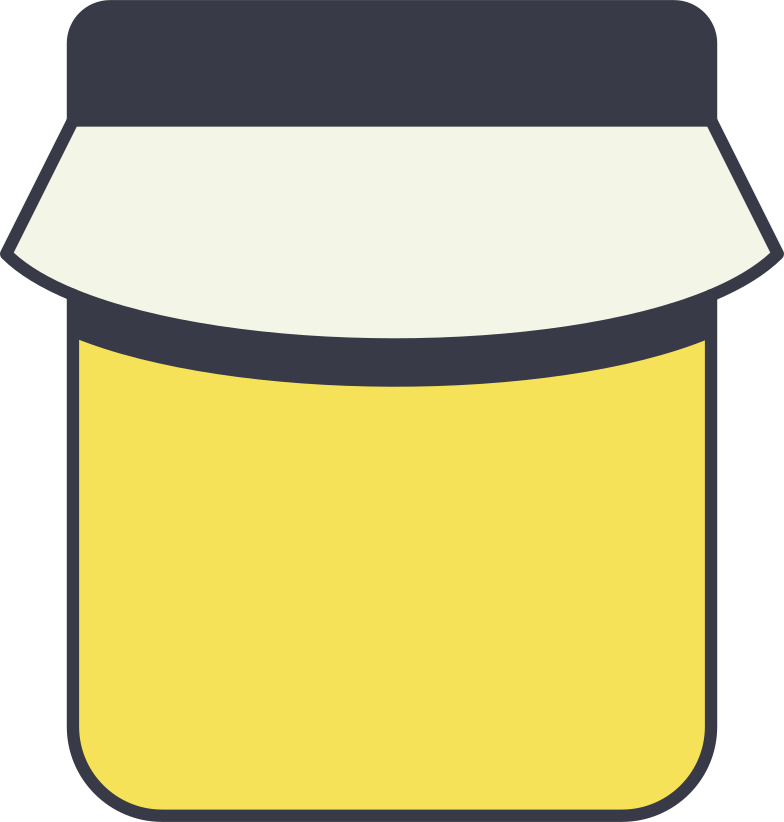 honey jar Clipart illustration in PNG, SVG