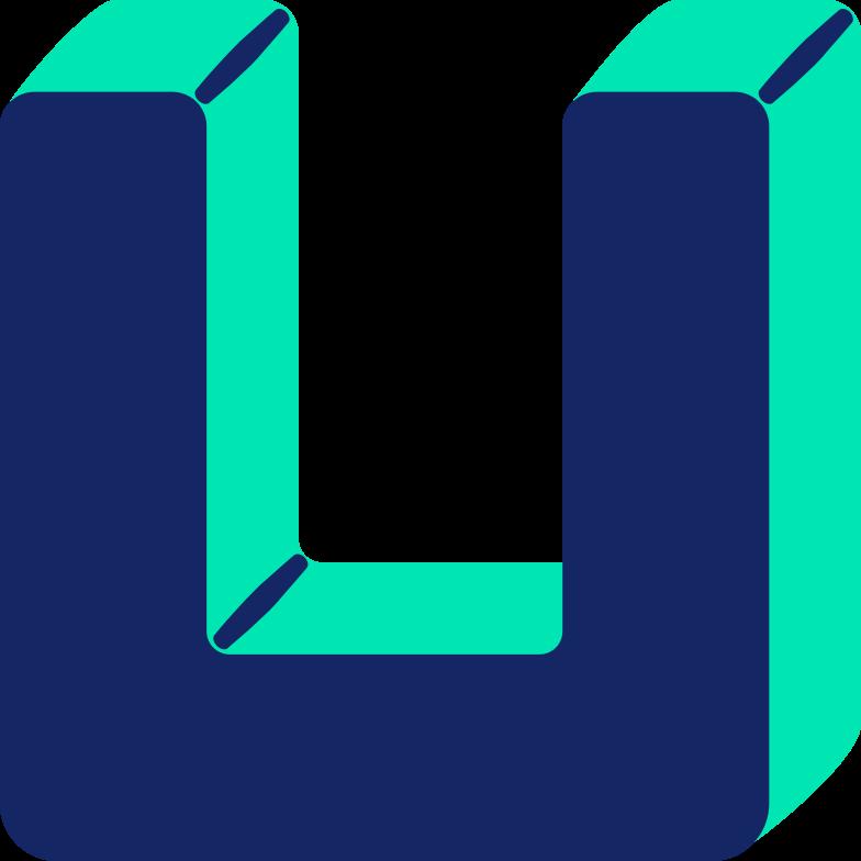 letter u Clipart illustration in PNG, SVG