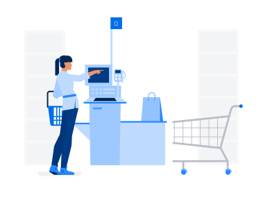 style Self service in supermarket images in PNG and SVG | Icons8 Illustrations