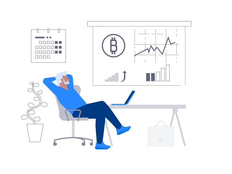 Bitcoin Growth Clipart illustration in PNG, SVG