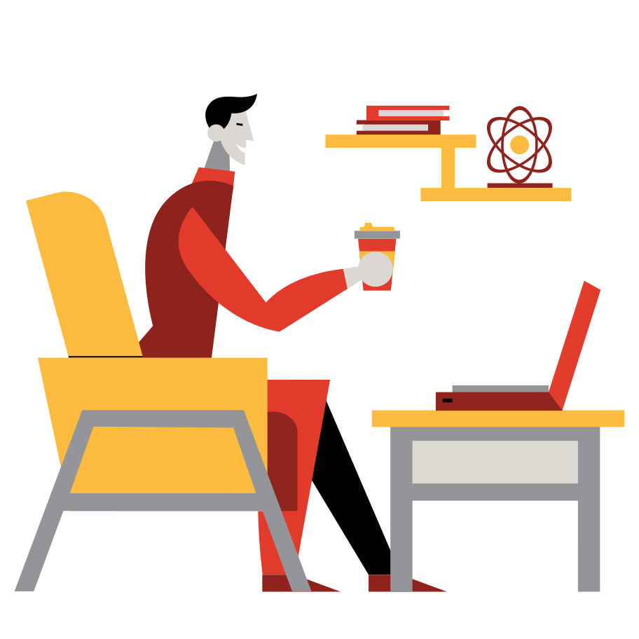 Home office Clipart illustration in PNG, SVG