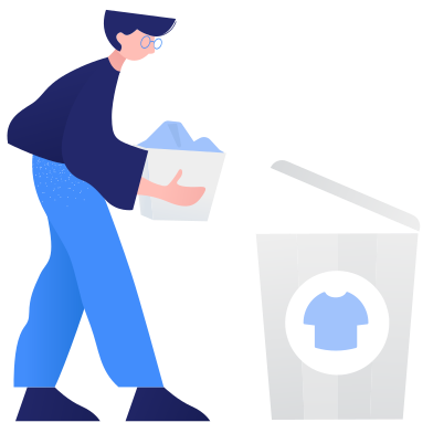 style Waste sorting- textile images in PNG and SVG | Icons8 Illustrations