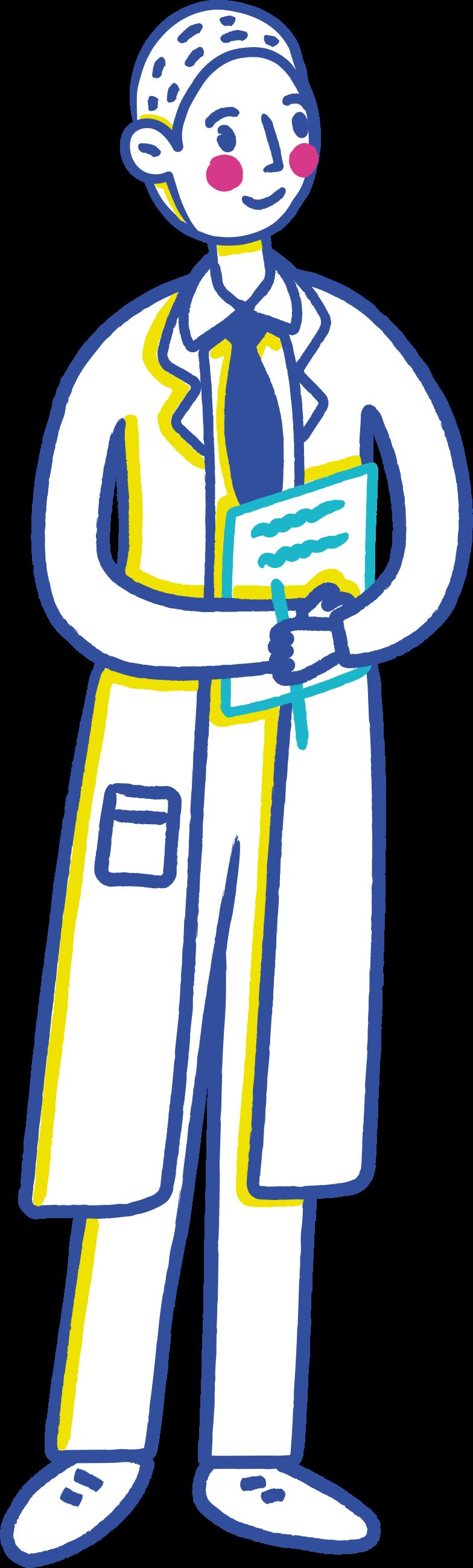 scientist Clipart illustration in PNG, SVG