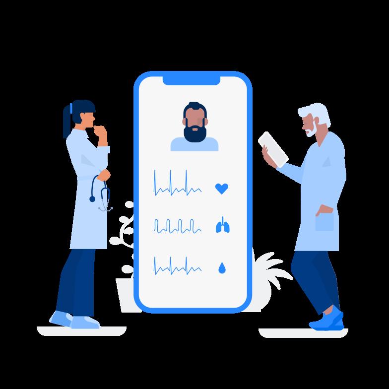 Telemedicine Clipart illustration in PNG, SVG