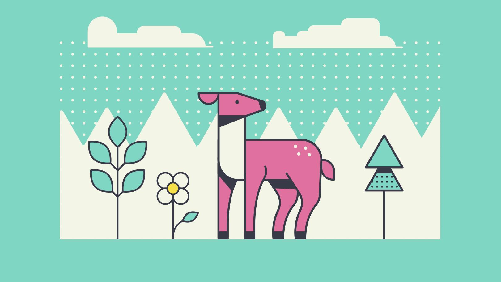 Forest animal Clipart illustration in PNG, SVG