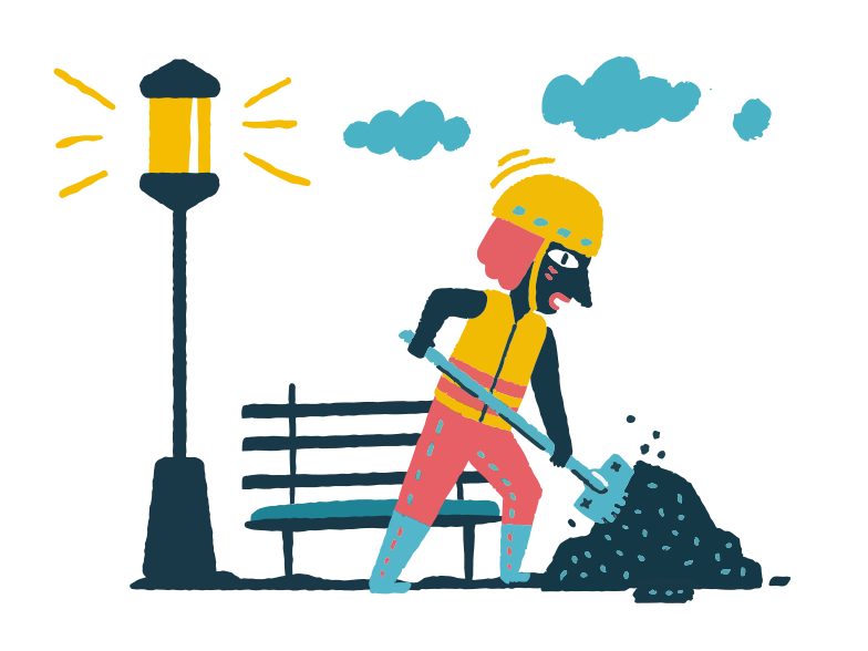 Utility worker Clipart illustration in PNG, SVG