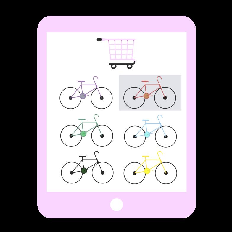 Online bike shop Clipart illustration in PNG, SVG