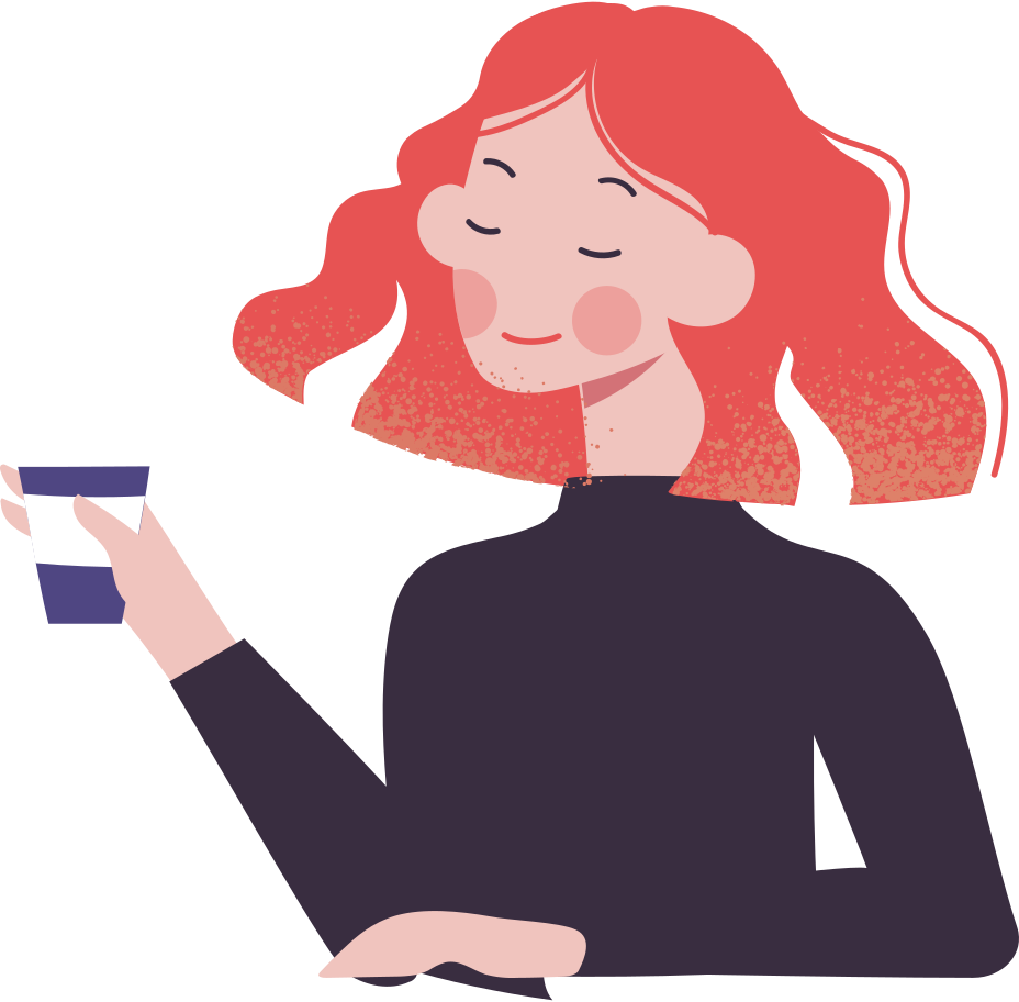 woman with coffee Clipart illustration in PNG, SVG