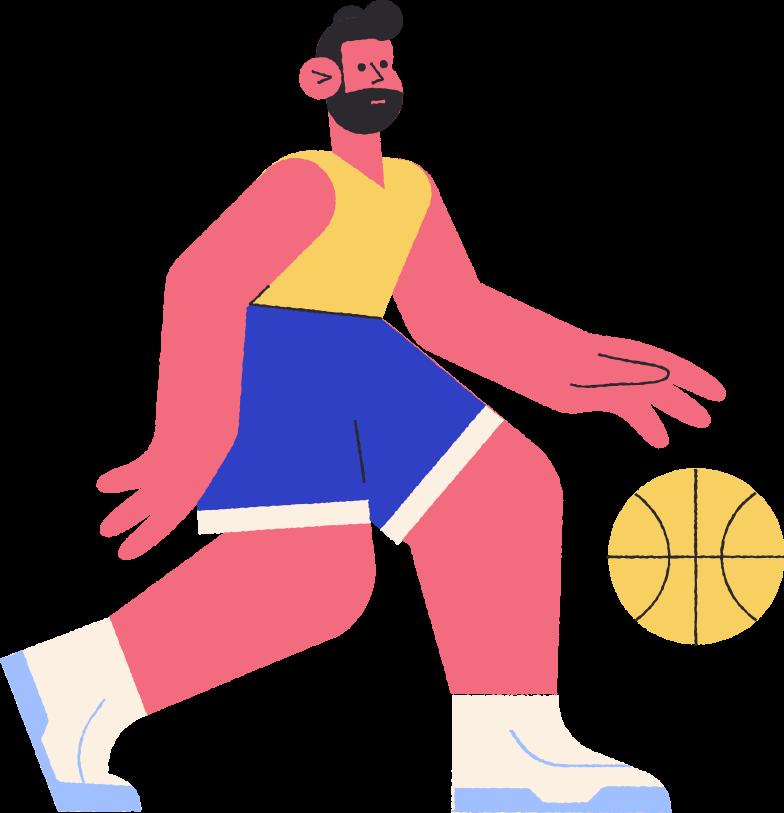 basketballer Clipart illustration in PNG, SVG