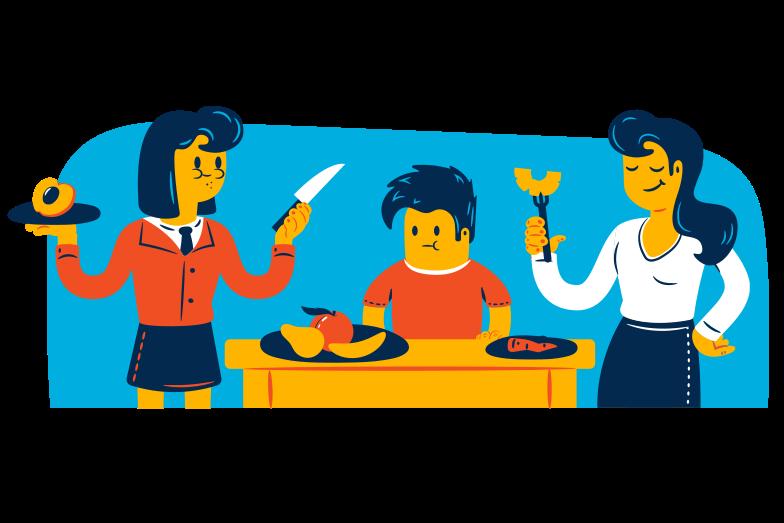 Vegetarian dinner Clipart illustration in PNG, SVG