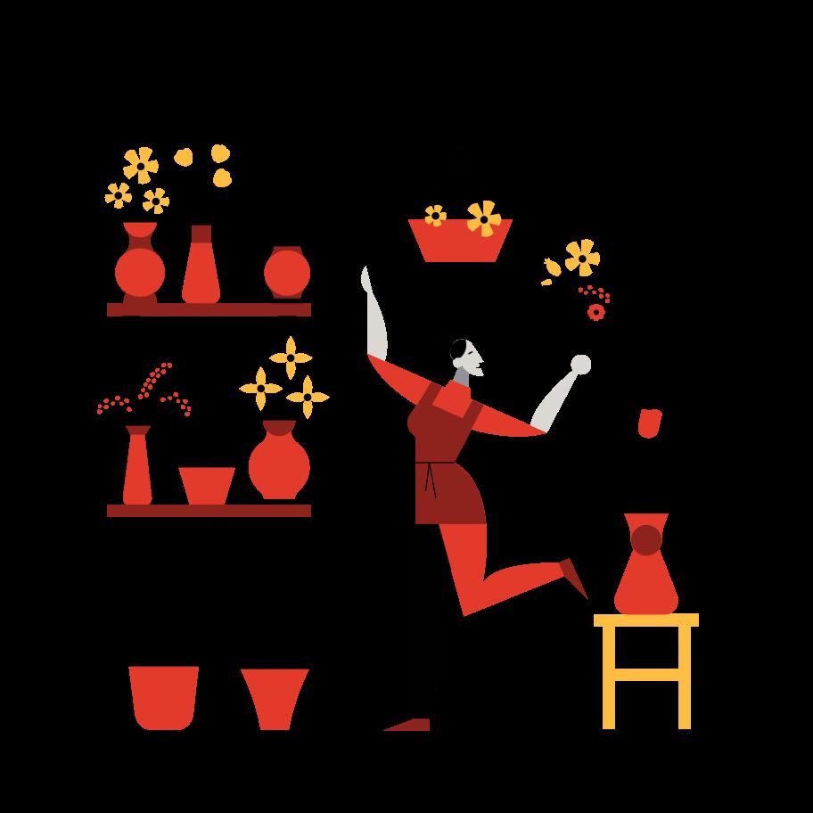 Flower Shop Clipart illustration in PNG, SVG