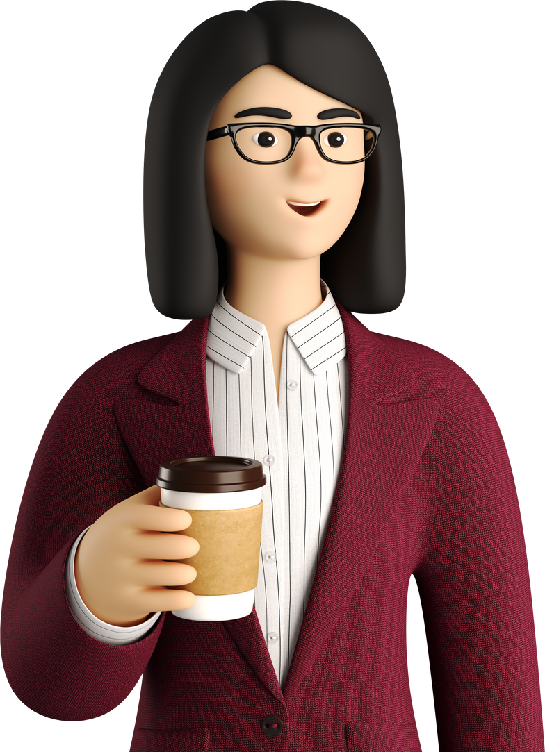 with coffee girl Clipart illustration in PNG, SVG