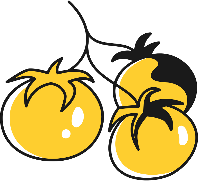 tomatoes on a branch Clipart illustration in PNG, SVG