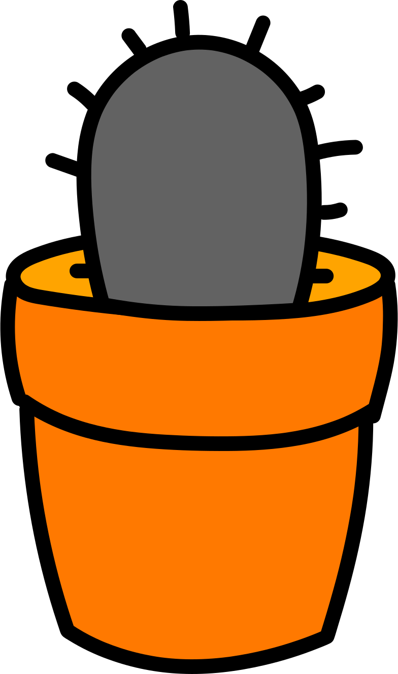 cactus in pot Clipart illustration in PNG, SVG