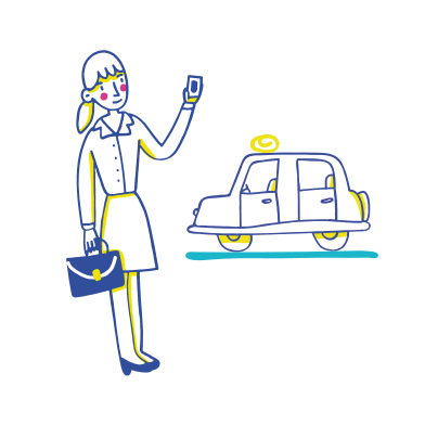 style Calling a taxi images in PNG and SVG | Icons8 Illustrations