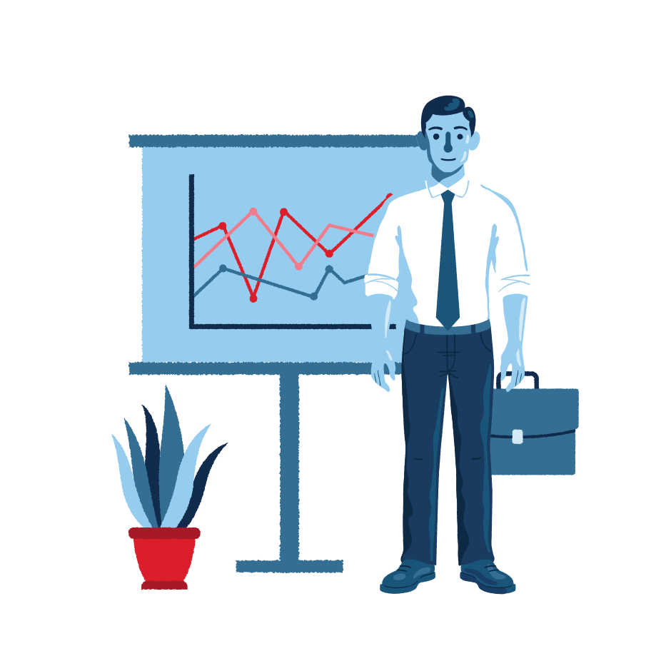 Business analytics Clipart illustration in PNG, SVG