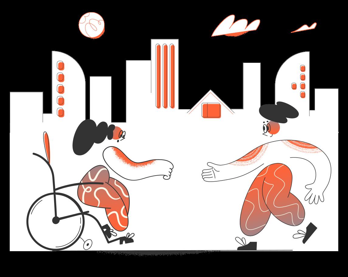 Assistenza disabili Illustrazione clipart in PNG, SVG