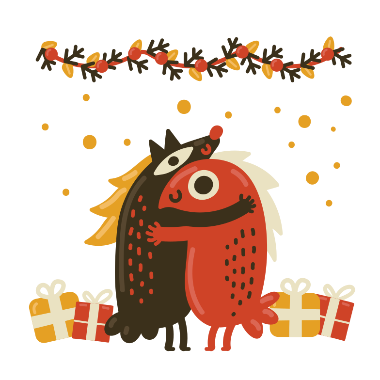 Christmas time Clipart illustration in PNG, SVG