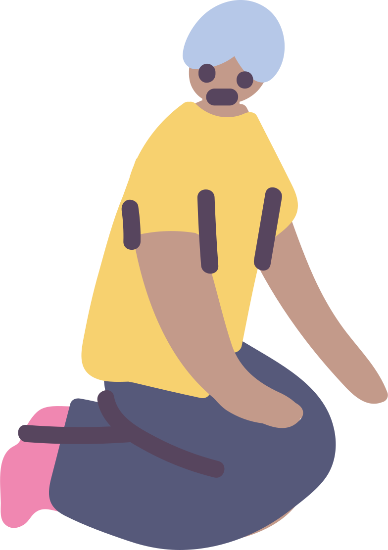 sitting man のPNG、SVGクリップアートイラスト
